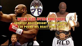 When Size Beats Skill: 330 Pound NFL Beast vs. The Greatest Kickboxer