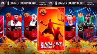SUMMER COURTS PACK OPENING w/NEW SETS & LINEUP! NBA Live Mobile Gameplay Ep. 137