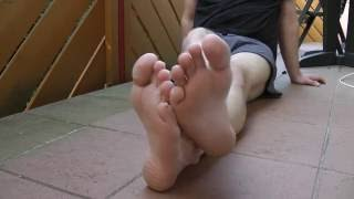 Male soles in the morning
