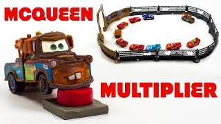Lightning McQueen Clone Appears out of Nowhere After Mater Hits the Red Button Over & Over Again