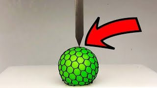 EXPERIMENT HYDRAULIC Guillotine 100 TON vs Anti Stress Ball
