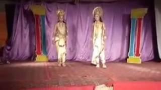 Bhart and shatrudhan act play by Nishu(Prince) and akash 2016