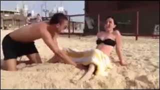 웃긴동영상, 재미있는영상 - 모래위 출산 ㅋㅋㅋ
