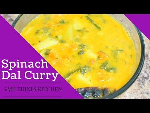 Spinach dal Curry in Tamil - Amy's kitchen - Happy foodie recipes - Uma Santhosh