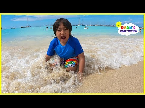 Xxx Mp4 Family Fun Day At The Beach And Playing In The Sand With Ryan 39 S Family Review 3gp Sex