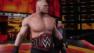 EXCLUSIVE WWE 2K18 PRESENTS NO MERCY PREVIEW: BROCK LESNAR VS BRAUN STROWMAN