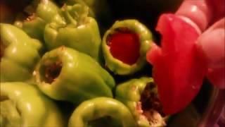 Etli biber dolması videosu / Biber Dolması Tarifi / Recipe / Yemek Tarifleri