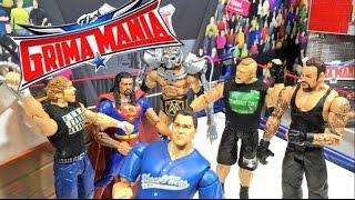 GTS WRESTLING: GRIMAMANIA! WWE Wrestlemania 32 PARODY Mattel Figure Animation PPV Event