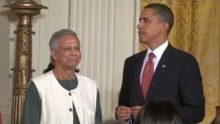 Medal of Freedom: President Barak Obama & Dr. Muhammad Yunus