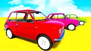 Learn Colors Small Cars and Spiderman Extreme Jumping w Superhero Cartoon for kids