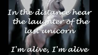 America - The Last Unicorn (with Lyrics)