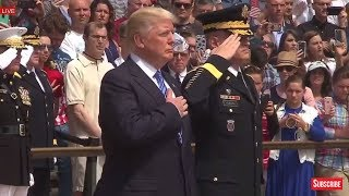 EMOTIONAL: President Donald Trump Wreath Laying Ceremony at Arlington National Cemetery Memorial Day