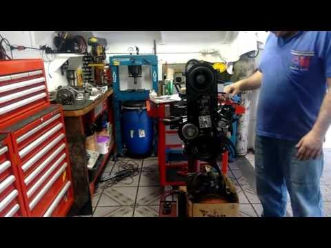 montagem do motor chevette. regulagem de válvula e correia dentada