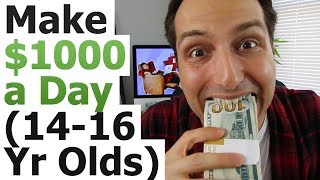 How To Make $1000 a Day On YouTube (As A Lazy 14-16 Year Old)