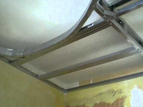 Навесной потолок из гипсокартона своими руками видео