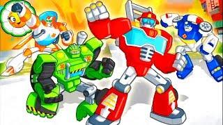 Transformers Rescue Bots #7 Команда Ботов Спасателей против стихии и Морботов доктора Морокко!