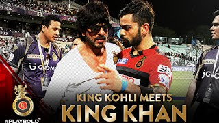 When SRK and Virat Kohli hugs l Eden Gardens l KKR vs RCB