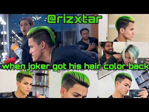 BEST HAIRCOLOR AND STYLE PART 2 WITH JOKER VLOG 14 RIZXTAR.