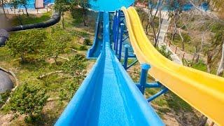 Dreamland Aqua Park - Blue Kamikaze   Free-Fall Water Slide Onride POV
