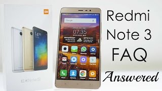 Xiaomi Redmi Note 3 FAQ after 5 days of use
