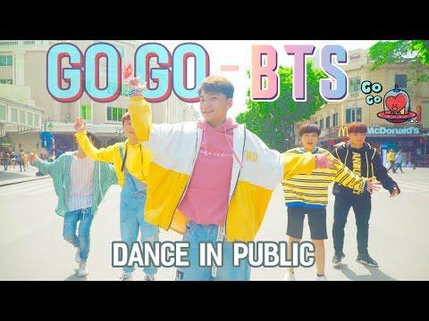 Kpop In Public 00 40 Bts Go Go Anh Tóc Xanh Anh Bốn Mắt Nhảy Ngoài Đường Phố
