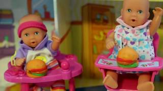 Baby Doll Potty Training - Barbie baby doll eat & poop - fun potty toy My Disney Toys