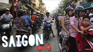 Ride with me thru Crazy Saigon Traffic 🛵Motorbikes Today in Vietnam, Ho Chi Minh City Travel 2017