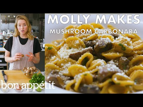 Molly Makes Mushroom Carbonara From the Test Kitchen Bon Appétit