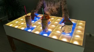 DIY Interactive LED Coffee Table - Arduino Project