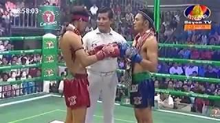 Proeung Socheat Cambodia Vs Rithaira, Thailand, Khmer Warrior Boxing Bayon TV Boxing 12 August 2018
