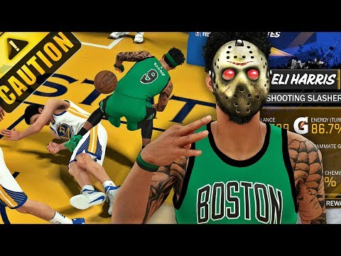 NBA 2K18 MyCAREER NEW PLAYER BUILD IS A DEMON ENDED ZAZA CAREER WITH CONTACT DUNK