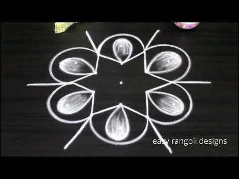 Xxx Mp4 Very Easy Friday Rangoli Kolam Designs Simple Cute Muggulu Patterns 3gp Sex