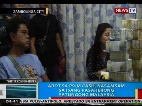 BP: Abot sa P9M cash, nasamsam sa isang pasaherong patunong Malaysia