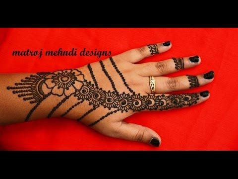 simple stylish easy mehndi henna design for hands|Matroj Mehndi Designs