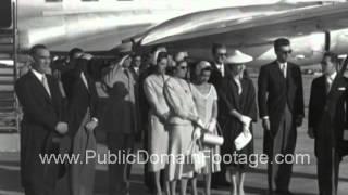 Declassified film - Shah of Iran Mohammad Reza Shah Pahlavi preparing to board a plane for Russia