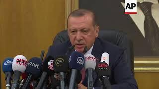 Erdogan comments on Iran, Turkish banker as he departs for France