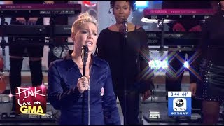 P!nk - What About Us - LIVE (GMA)