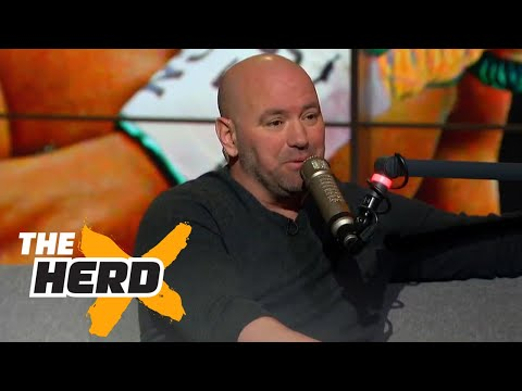 Dana White makes offer to Mayweather to fight McGregor THE HERD FULL INTERVIEW