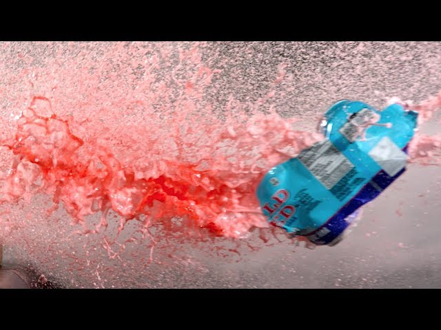 Compressed Air Cannon in Super Slow Mo - The Slow Mo Guys