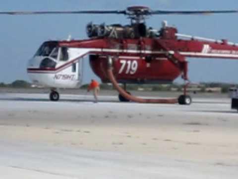 Sikorsky Sky Crane Engine Start and Takeoff