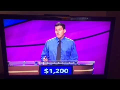 Guy on Jeopardy destroying an entire category