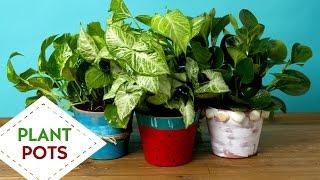 DIY - 3 Way Funky Plant Pots