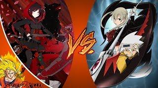 Ruby VS Maka (RWBY vs Soul Eater) _ CARTOON FIGHT CLUB REACTION!!!