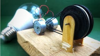 Electricity free energy self running machine with dc motor using bostai drill generator