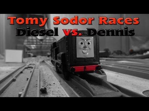 Tomy Sodor Races Diesel vs Dennis Race 7
