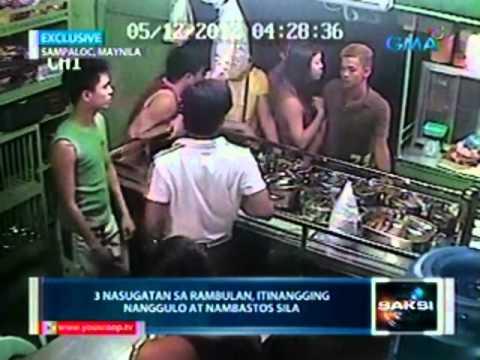 Saksi Rambulan sa videoke bar huli sa CCTV