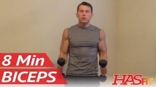 8 Minute Blasting Biceps Workout at Home - Bicep Exercises with Dumbbell - Biceps Work Out Training