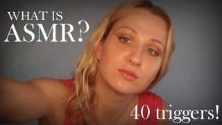 What is ASMR? 40 fast triggers to find your TINGLES for relaxation | binaural | Olivia kisser