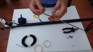 Montaje nylon y tensor fusil de pesca submarina