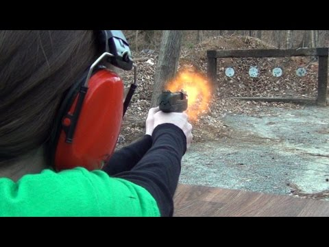 S&W M&P Shield 40 - A girl can shoot it.